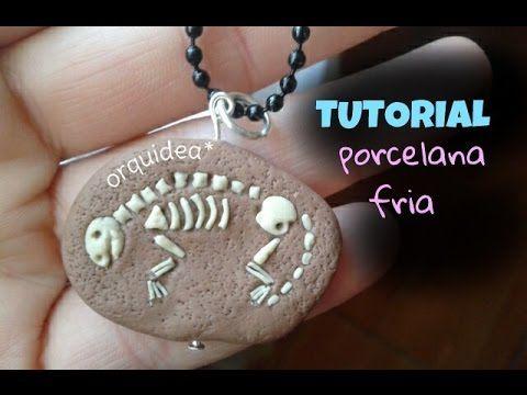 Dinosaur Fossil air dry clay / polymer clay charm tutorial