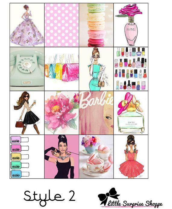 Fashion Icon Erin Condren Stickers by  (Repost vom etsy Shop @ LittleSurpriseShoppe) ...meine Erin Condren Lifeplanner Review's in Deutsch auf www.all-my-pretty-things.com und Video's YouTube @MarinRoj mit Angaben wo ihr in/aus Deutschland online bestellen bzw kaufen könnt. (Nicht Amazon)  (Planner Planer Kalender) ...Inspired by Pinterest and Tumblr, these {pink & gold mint türkis stickers} make a wonderful addition to your {paper journey} Great for your {life planner,