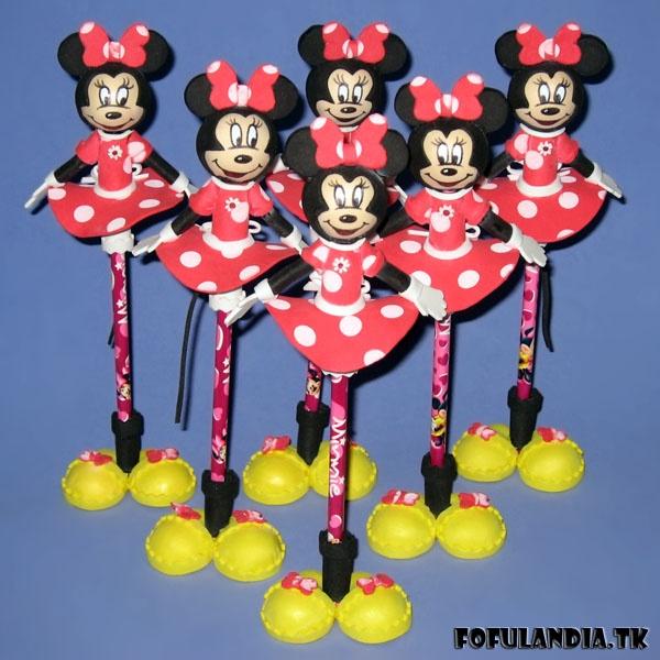Fofuchas lapices Minnie Mouse