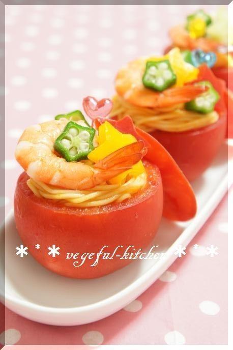 夏☆七夕にトマトとそうめんの冷たいサラダ by vegeful [クックパッド] 簡単おいしいみんなのレシピが176万品