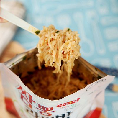 Korean Food Seafood Noodle&Rice Ramenbap Asian Food MRE Hot Water Need Only