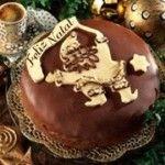 Bolo de Natal com Chocolate e Licor