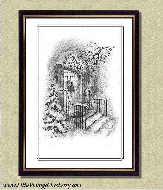 WINTER PEACE  Christmas Art Print   Poster by littlevintagechest, $7.99