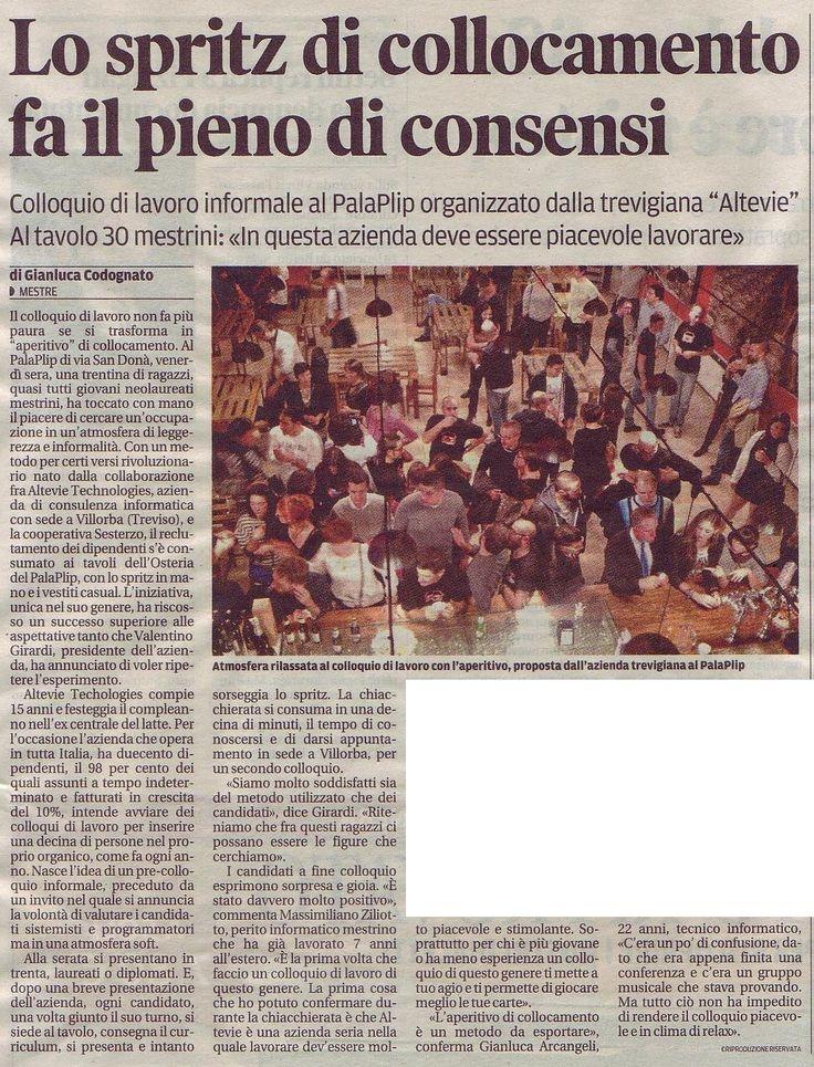 """NiceJob @ Altevie, l'articolo del successo de """"La nuova di Venezia e Mestre"""""""
