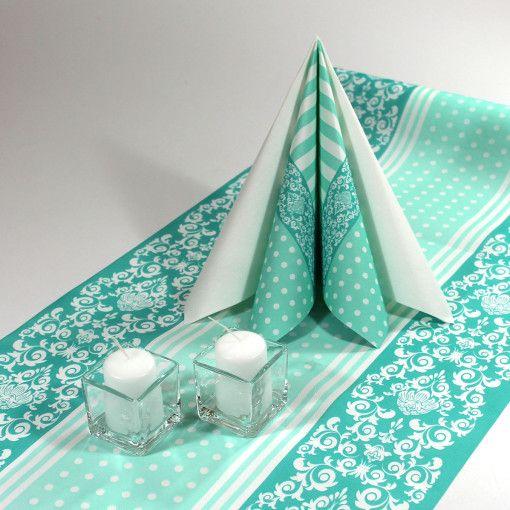 Inspiration til mintgrøn borddækning. Find alt til denne borddækning på www.mystone.dk