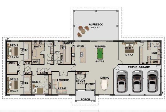 Acreage house plan