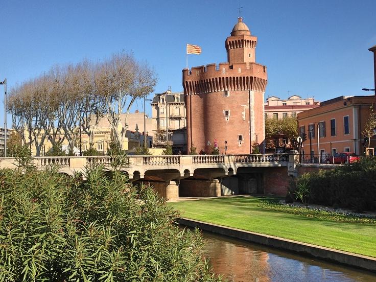 The Castillet in winter in Perpignan