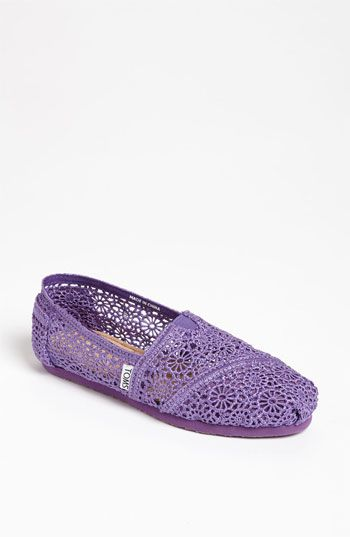 TOMS 'Classic' Crochet Slip-On (Women) available at Nordstrom    Love these...