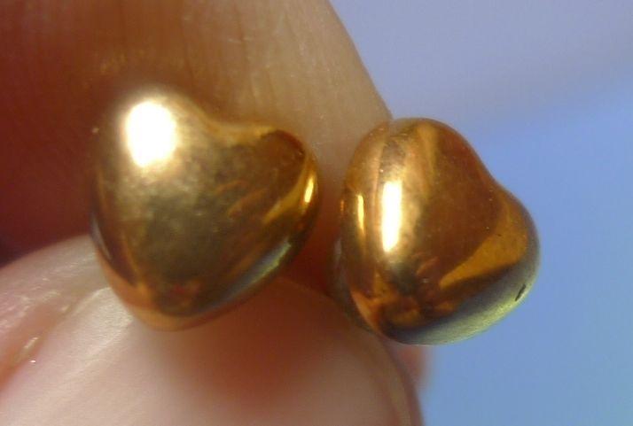 Vintage Retro Jewelry Fashion Bijoux Bijouterie Heart EARRINGS Stud Gold Color