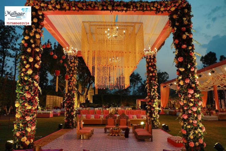 Various decor themes for wedding, sangeet and reception, Complete event planning services. Address- Malhaar Exotica, Behind Power Grid, Near Ganeshpura Village, Uttam Milk Dairy Road, Dehgam, Gandhinagar Contact- 7575806021/24  #TravelPlace #Tourism #Resorts #WeekendGetaway #Clubhouse #IndoorGames #Swimmingpool #Farmhouses #BanquetHall #Lawns #wedding #sangeet #reception #vacationhomes #MalhaarExotica #CityShorAhmedabad