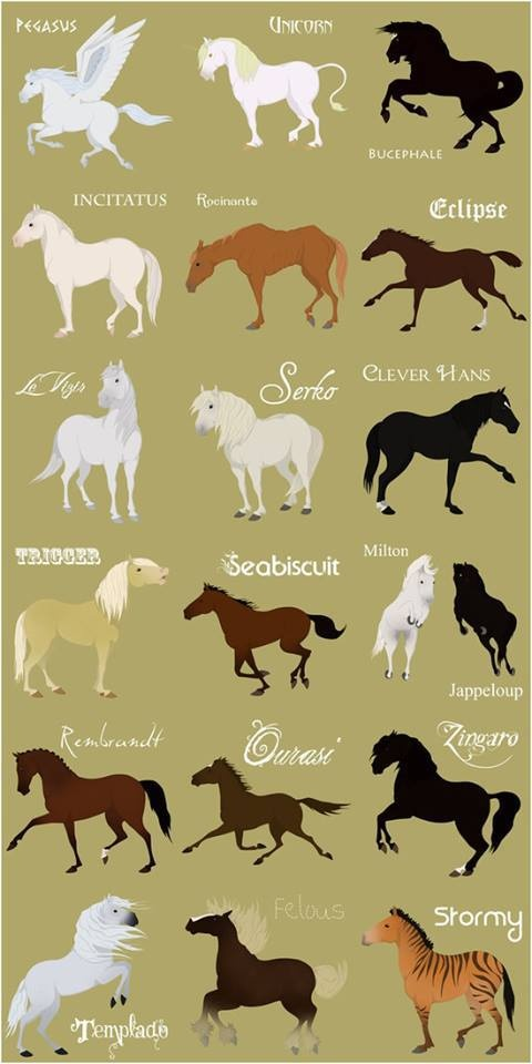 Famous horses list fantasy horses too