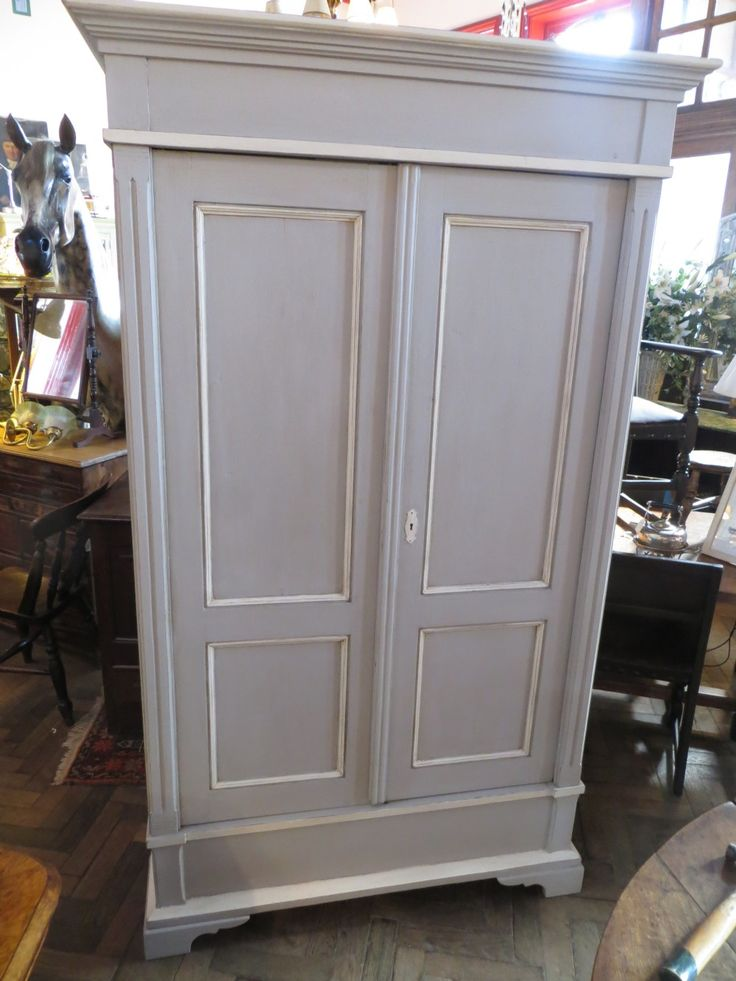 ANTIQUE PAINTED PINE BREAKDOWN WARDROBE