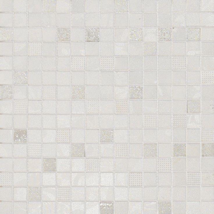 #Dado #Mosaik #Silk Bianco 33,3x33,3 cm 301077 | Feinsteinzeug | im Angebot auf #bad39.de 120 Euro/qm | #Mosaik #Bad #Küche
