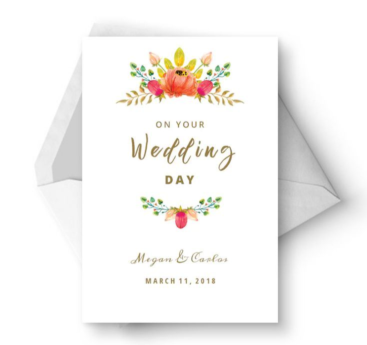 This is a graphic of Printable Wedding Card in message