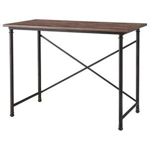 Cheap desk from Target   Use it as an entryway table   Looks like Restoration Hardware   House Of Thrift