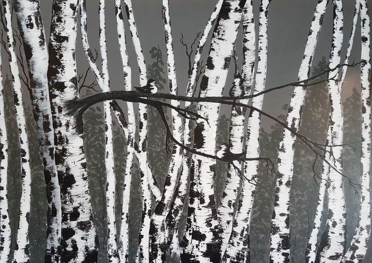 Acrylic on canvas 80x100 cm by me (Anne G. Lj.) 2016