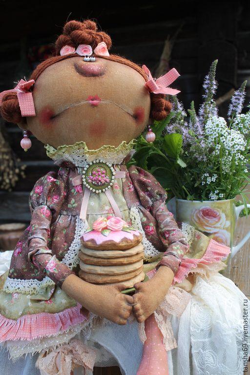 Купить Мамзелька и тортик! - разноцветный, текстильная кукла, ароматизированная кукла, интерьерная кукла, дама, тортик