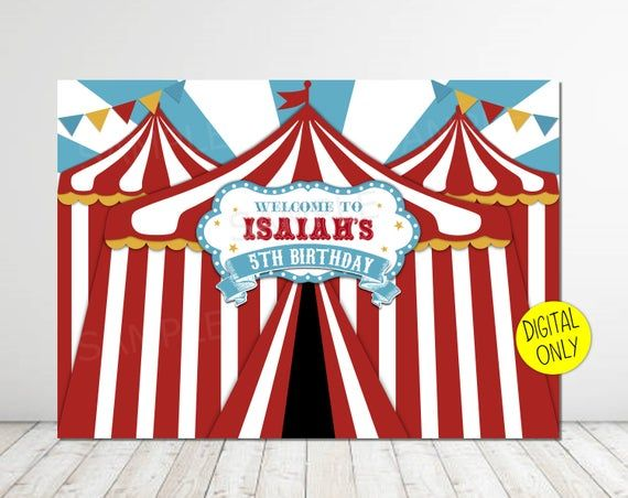Dumbo Backdrop Birthday party Photography Circus party carnival banner 5ft x 7ft Printed