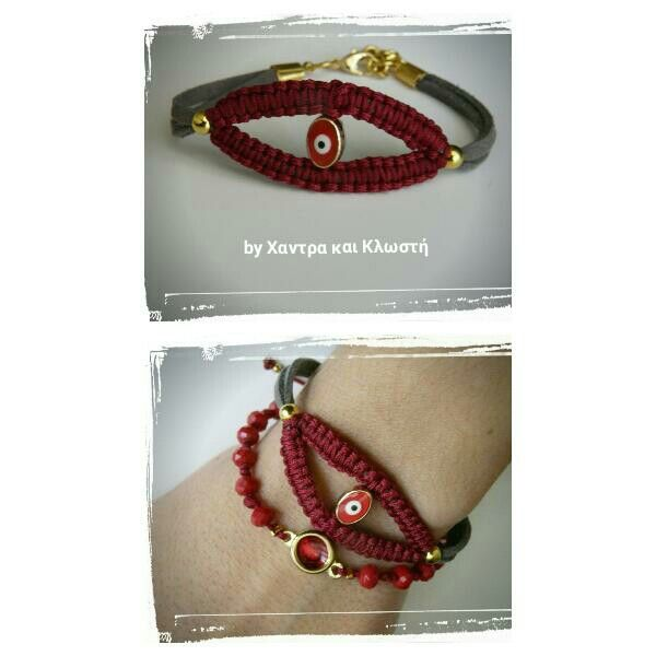 Red friendship brac.by friendshipbracelettherapy®