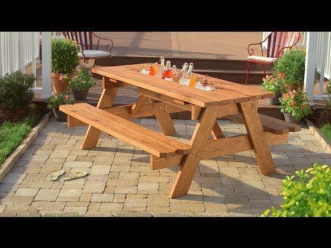 Cómo crear una mesa de picnic con hielera - YouTube