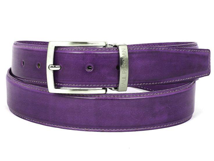 Men's Leather Belt Purple