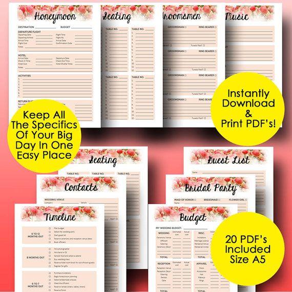 Best 25 Wedding Planning Binder Ideas On Pinterest: 25+ Best Ideas About Wedding Planner Binder On Pinterest