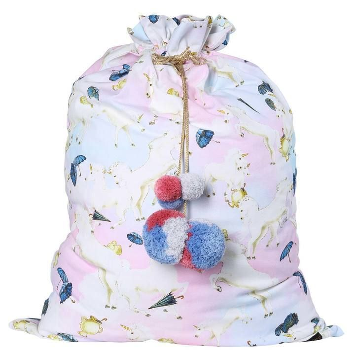 Kip & Co - Animalia Unicorns And Umbrellas Santa Sack