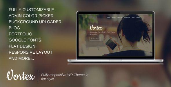 Vortex - One Page Parallax Flat WordPress Theme
