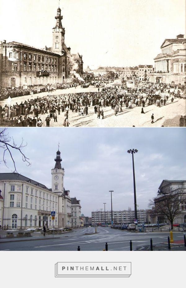 Plac Teatralny - rok 1895 i 2011 - created via https://pinthemall.net