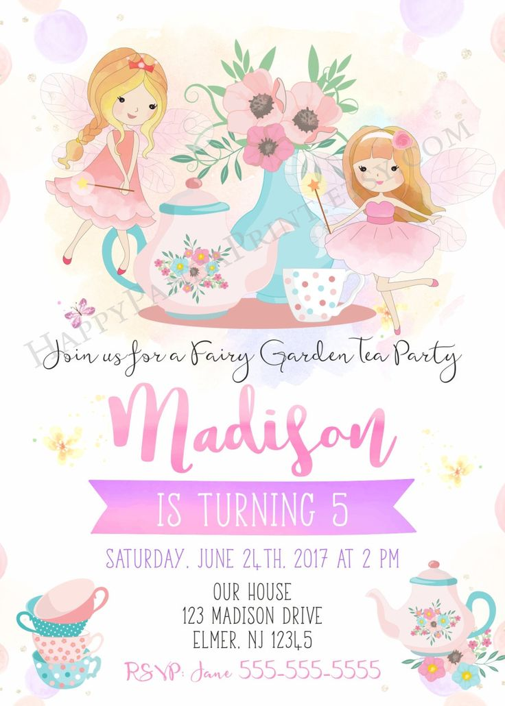 240 best Birthday Invitations images on Pinterest | Watercolours