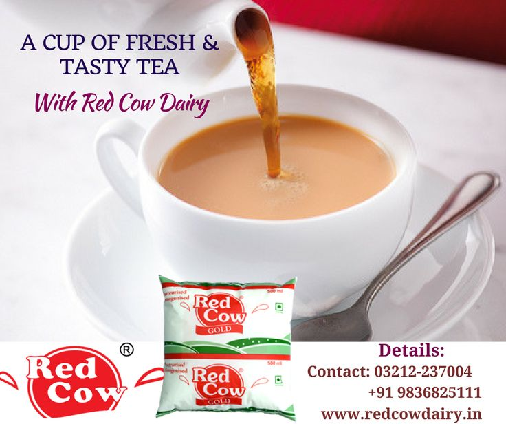 Make your day with a cup of fresh & tasty tea made by Red Cow Dairy milk. Call us: +91 9836825111