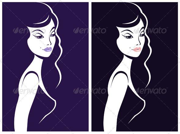 Beautiful Woman Shadow Portrait