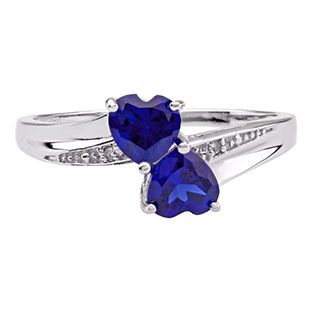 Double Sapphire Heart Diamond September Birthstone Ring In Silver Available Exclusively at Gemologica.com Valentine's Day 2015 Jewelry Gift Ideas for Him, Her and Kids. Gemologica has the perfect homemade and creative gifts for your boyfriend, girlfriend and for couples including rings, earrings, bracelets, necklaces and pendants. Shop now for special savings at https://www.gemologica.com Gift Guide Located at https://www.gemologica.com/jewelry-gift-guide-c-82.html