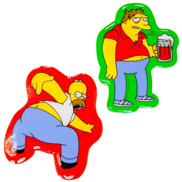 Simpsons - Barney & Homer Puffy Stickers