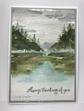 Because, to be honest, this is an amazing stamp set! Today I wanted to show you another card I made with the beautiful Waterfront stam...