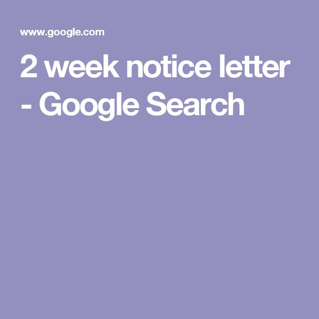 Best 25+ 2 week notice letter ideas on Pinterest Formal - notice letter