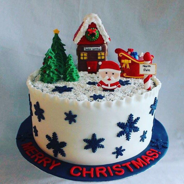 Hope you had a very Merry Christmas !   Cake by @sweetshopcakes  Fondant @_virginice   #virginice #merrychristmas #cake #winterwonderland