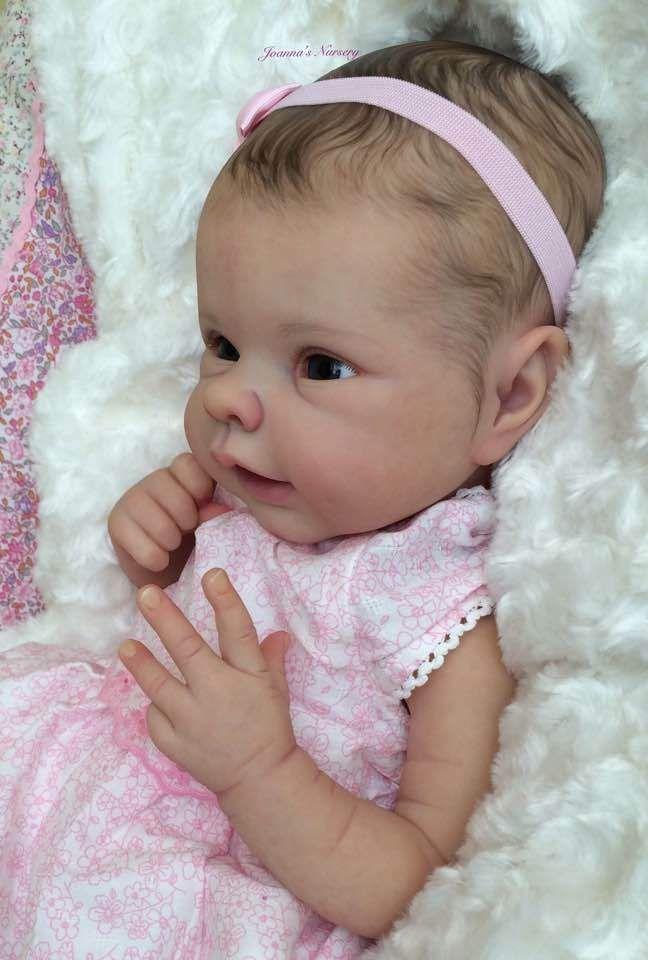 Joanna S Nursery Adorable Reborn Baby Girl Doll Pilar By Adrie Stoete Newborn Baby Dolls Reborn Babies Reborn Baby Girl