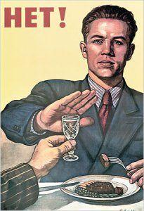Affiche d'une campagne soviétique anti alcolisme