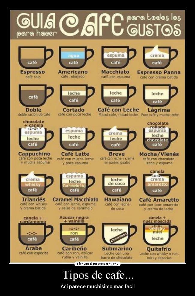 Resultado de imagen para clasificacion de pocillos para diferentes tipos de cafes