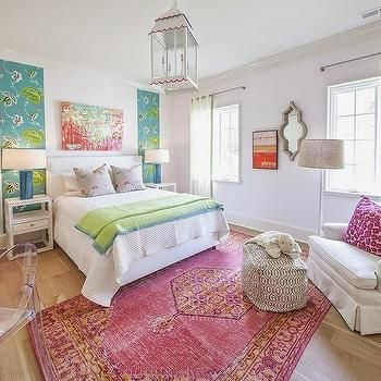 Pink and Orange Rug, Contemporary, girl's room, Lucy and Company