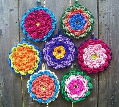 So pretty.Crochet Ideas, Crochet Potholders, Crochet Flower, Crochet Free Pattern, Flower Pots, Crochet Pots Holders Lov, Fancy Flower, Crochet Pattern, Flower Potholders
