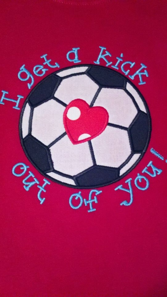 Infant Toddler and Boys Valentine's Day Soccer by nogirlsallowed2, $15.99