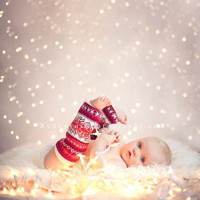 These are the leg warmers Hailey wore for Christmas! I'm totally reusing them for Hayden's 3 month photos! :)