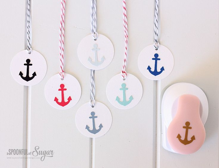 Nautical Gift Wrapping Ideas by A Spoonful of Sugar. Cute idea for a card, too (Feb'16)