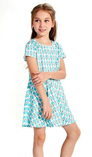 78692b4ba7581a Funnycokid Funnycokid Kleider Kinder Mädchen Sommer Blumen Kleid 2-9 Jahre  Kleider: - Sommerkleider