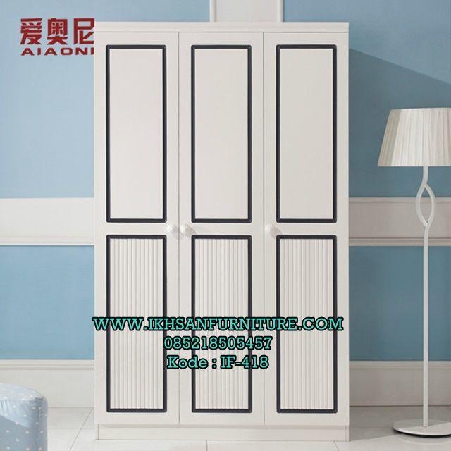Lemari Baju Anak 3 pintu Minimalis Modern