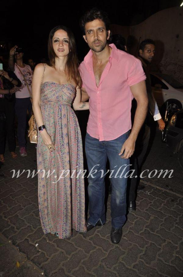 Sussanne and Hrithik Roshan at Sanjay Leela Bhansali's birthday bash   PINKVILLA