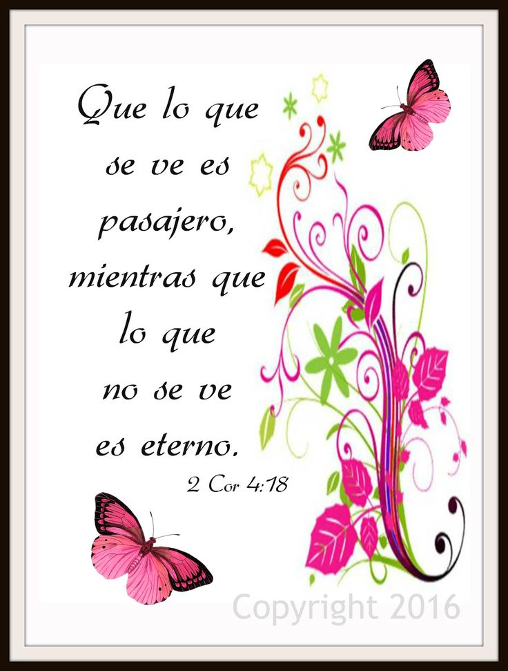"""Scripture Art Print """"What is Seen is Temporary"""" Spanish Version, Wall Decor, 8 x 10"""" Unframed Motivational Quote"""