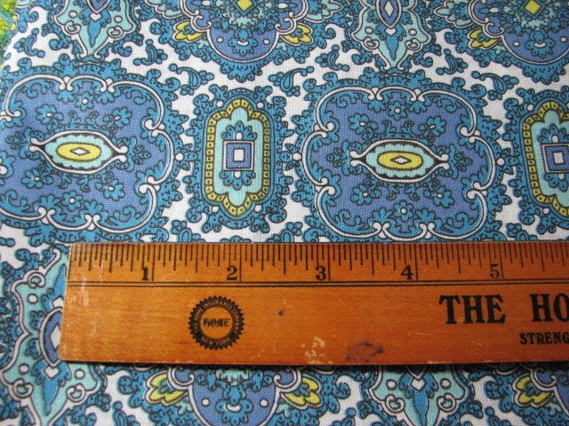 Vintage fabric 1940's 37 inches wide by 3 yards long by MajorVintageShop on Etsy